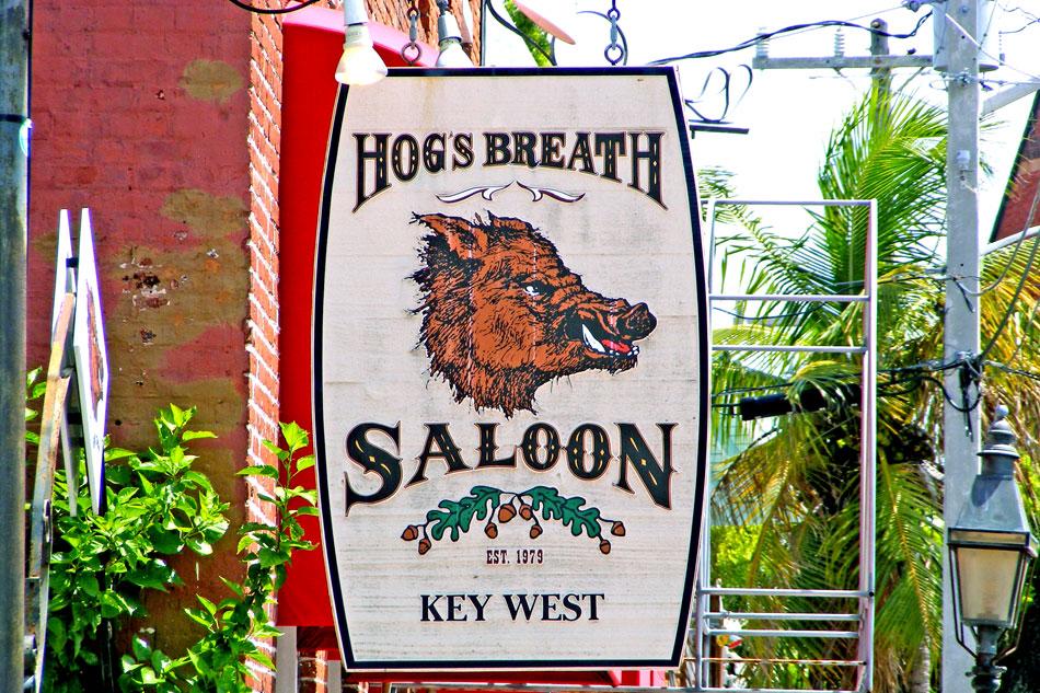 hogs breath saloon sign