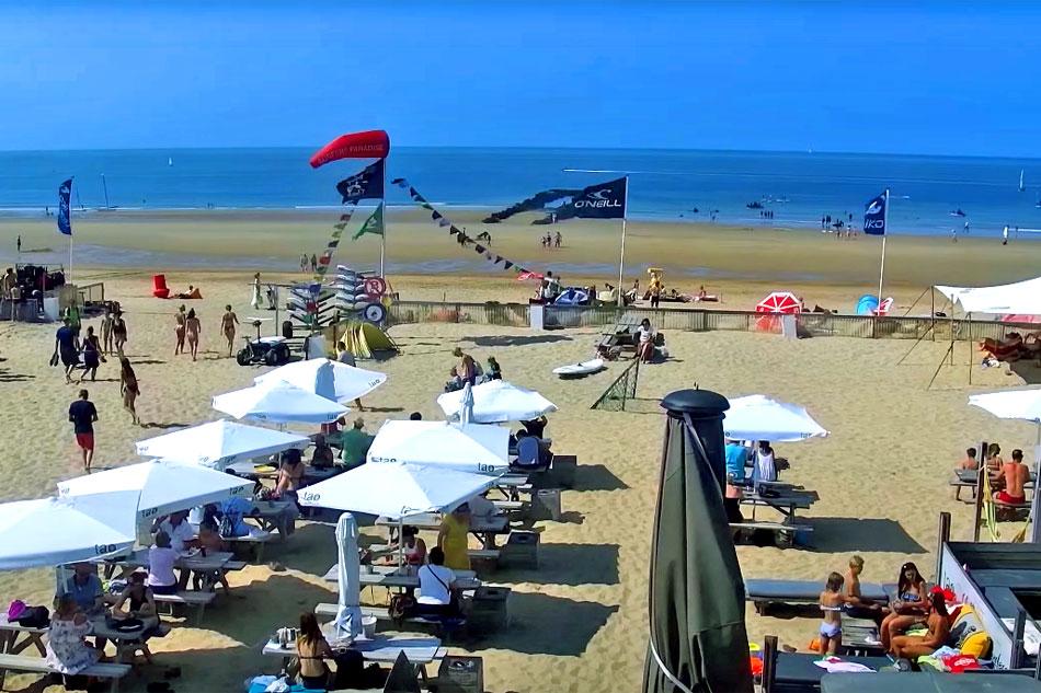 beach at knokke heist