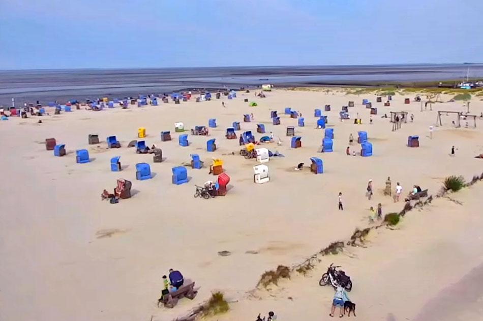 north sea beach in germany
