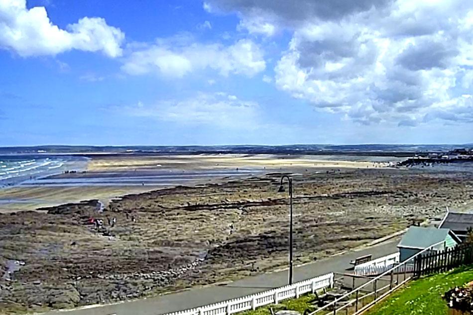 beach at westward ho in devon