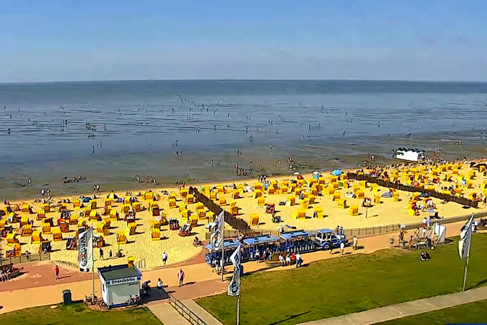 cuxhaven beach in germany