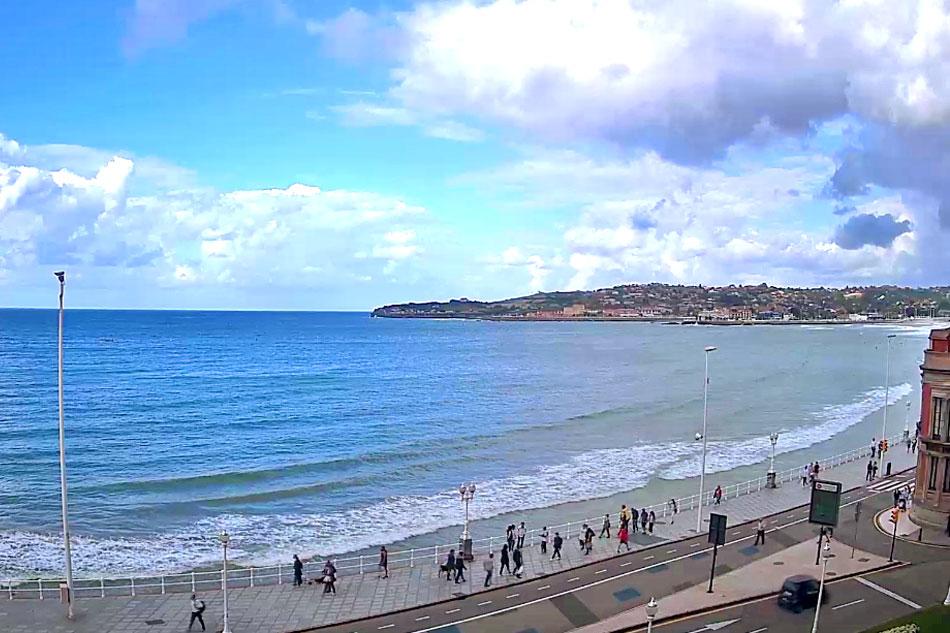 beachfront in Gijon, asturias