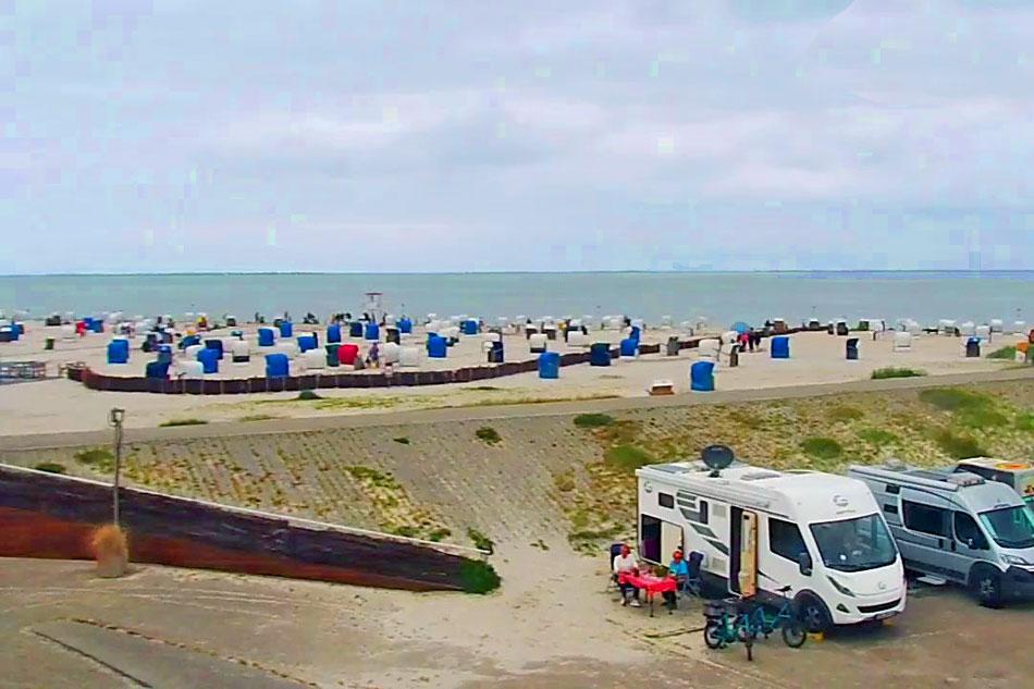 harlesiel beach in germany