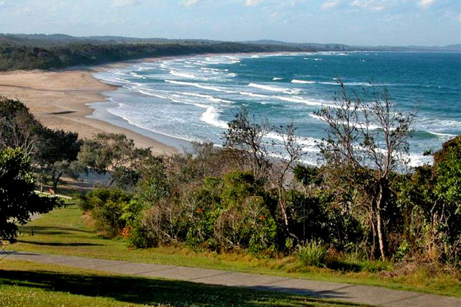 rainbow beach in new south wales