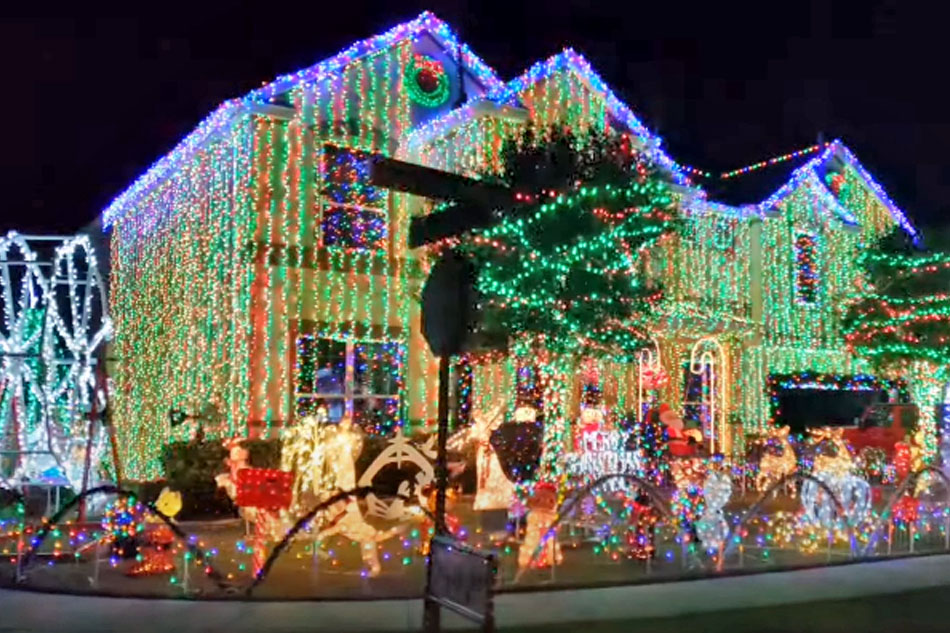 christmas lights at the Winter Garden Florida