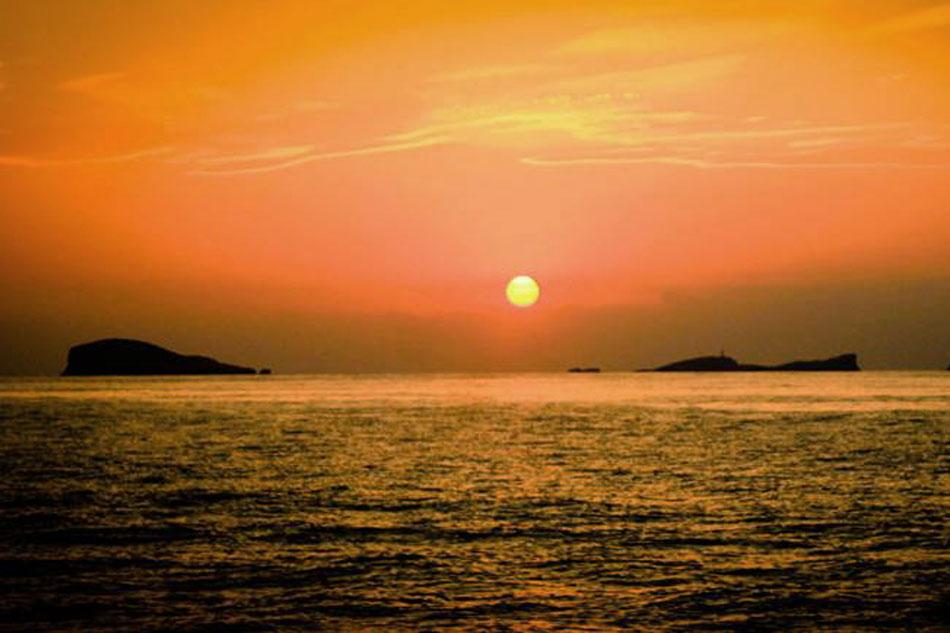 sunset in Ibiza