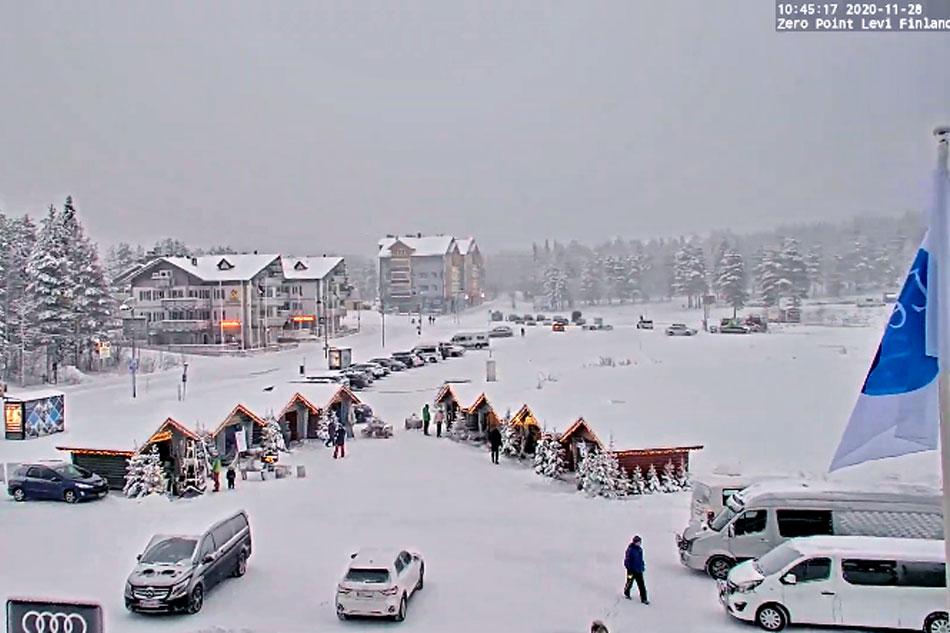 skiing at levi finland
