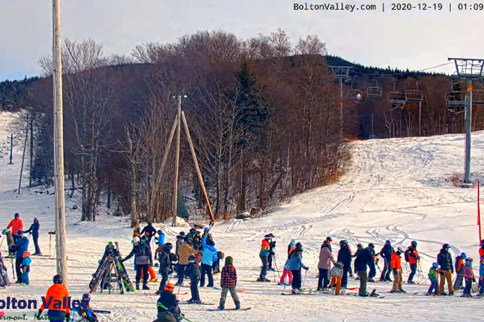 Skiing in Bolton Valley vermont