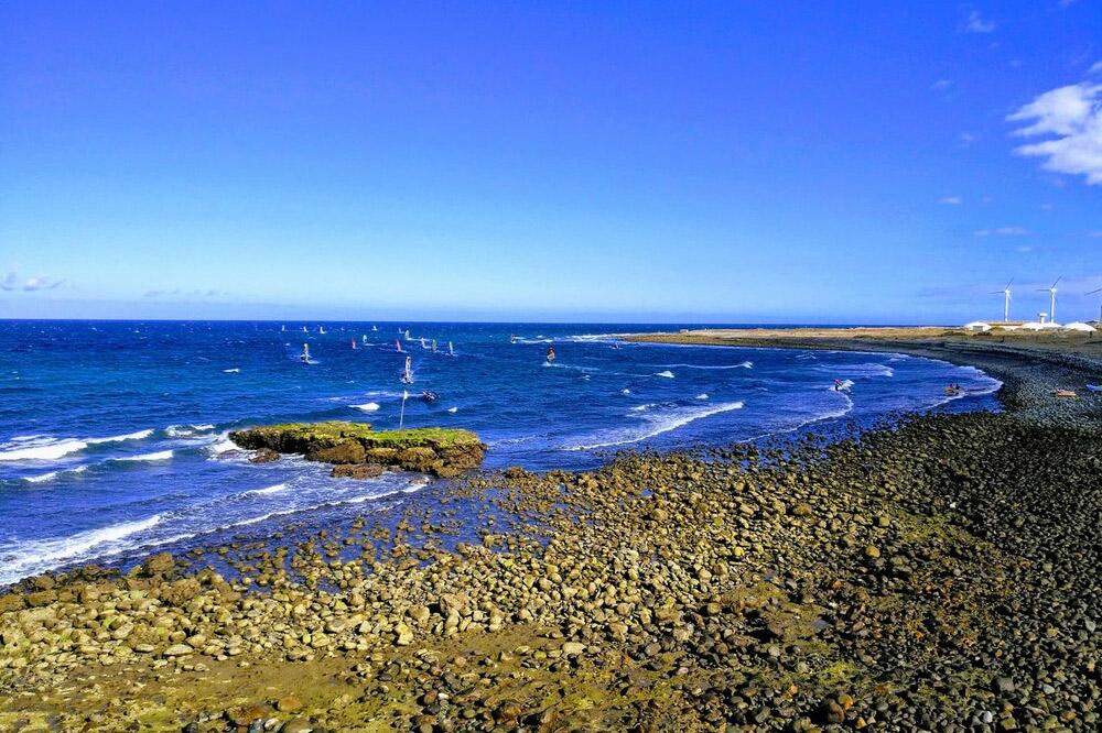 Surfers at Gran Canaria Beach
