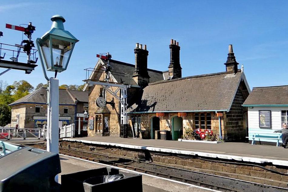 grosmont train station in Yorkshire