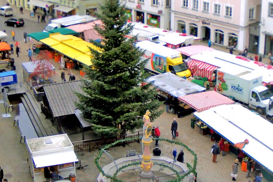 market place in biberach germany