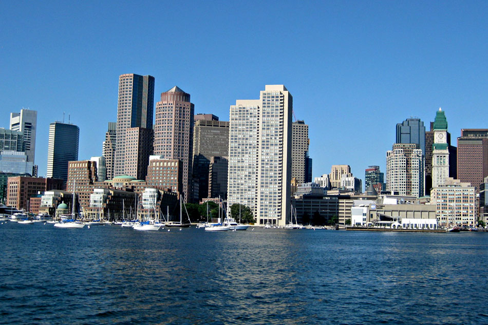 boston city and harbour