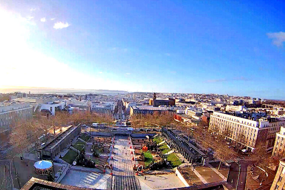 view of brest in france